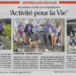 The Maureillas Activity for Life walk, as reported in Le Petit Journal